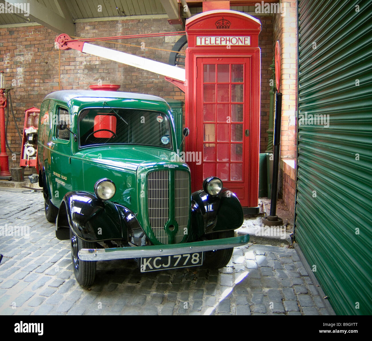 ac645a0dc3bb47 A Bradford Jowett classic car at the Industrial Musem Bradford - Stock Image