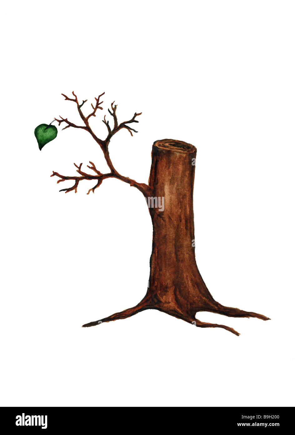 Log  cut-out  illustration - Stock Image