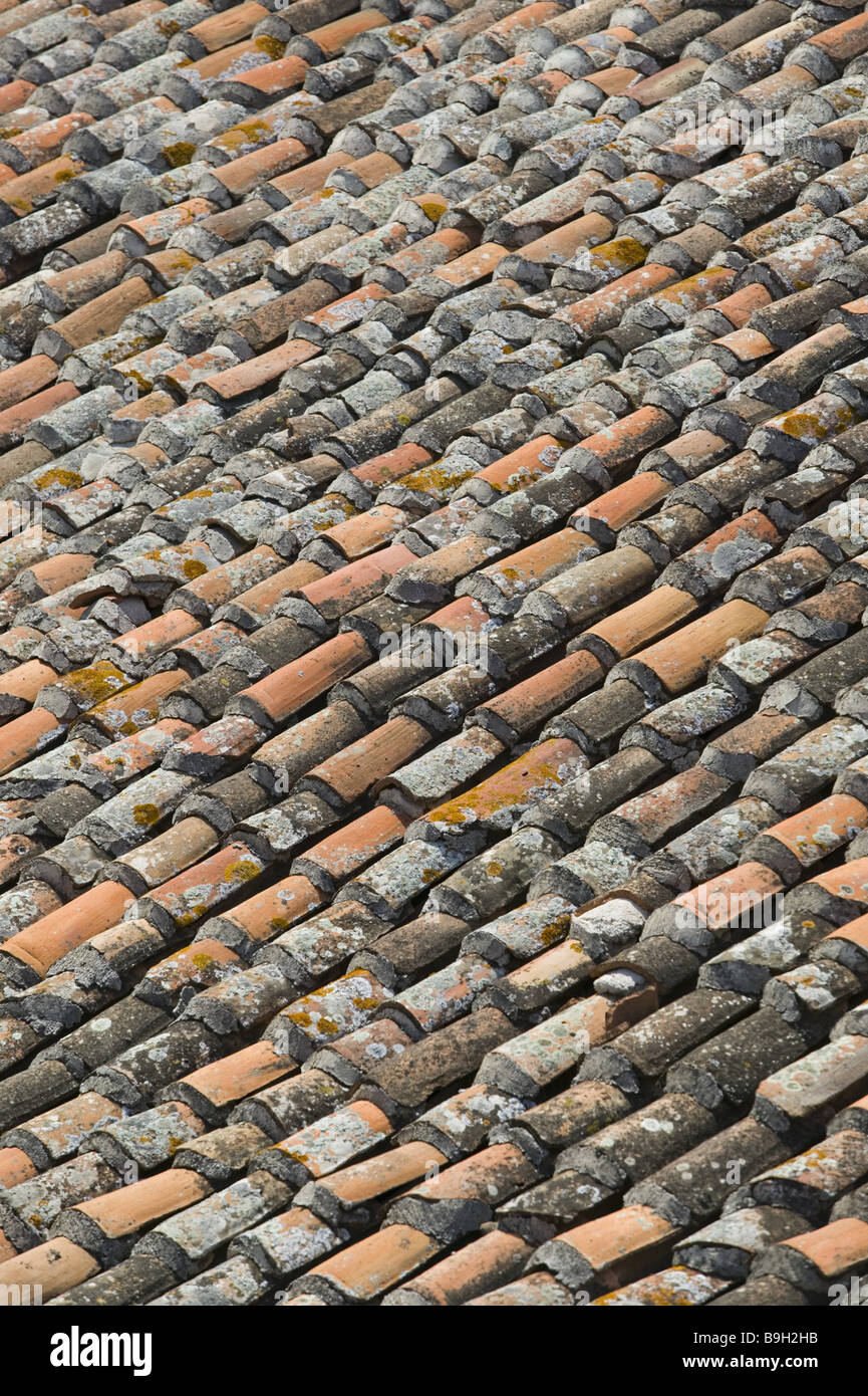 brick roof detail house house roof roof roof tiles roof covering bricks old weathers pattern structure forms lichens background - Roof Covering