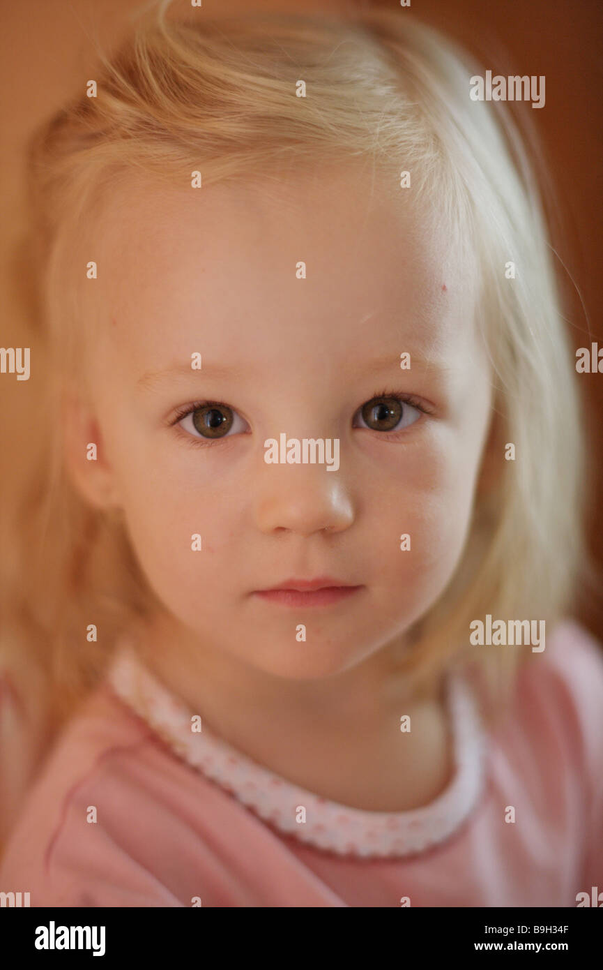 Portrait of a little blond girl Stock Photo