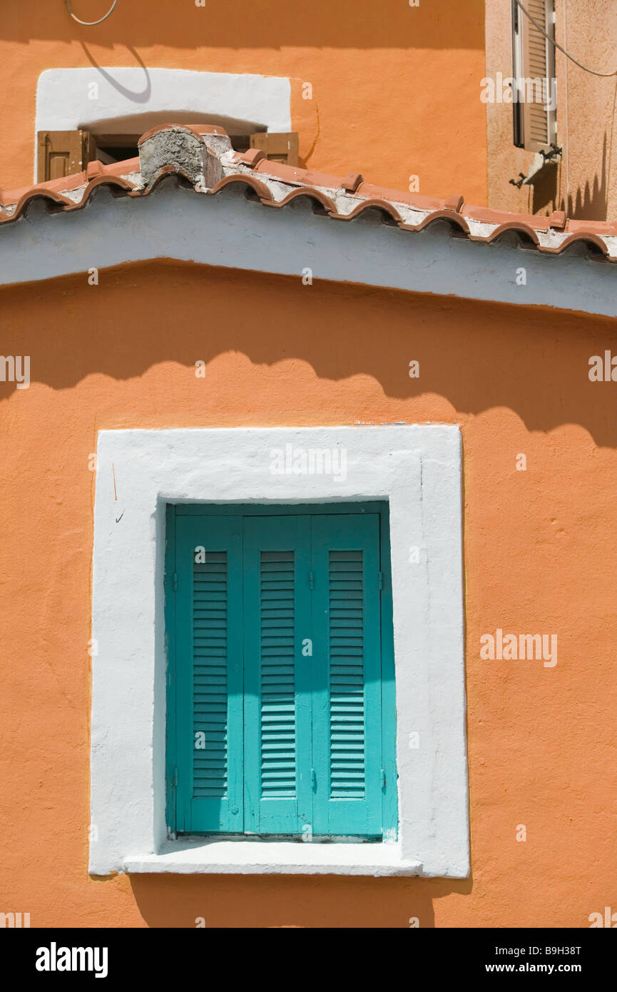 Greece island samos Pythagorion residence detail Europe Mediterranean-island destination city buildings architecture Stock Photo