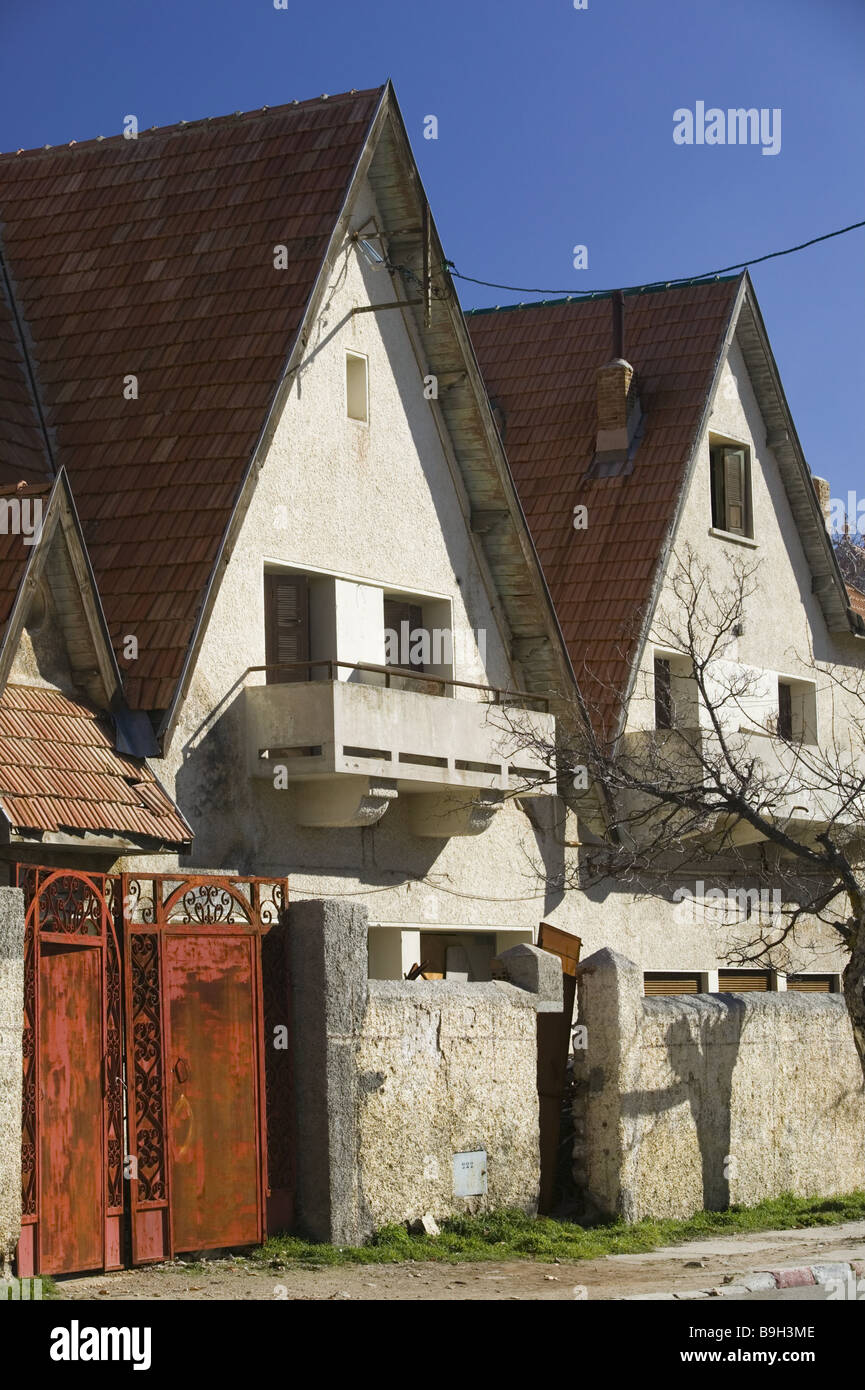 morocco ifrane row of houses detail africa north africa city stock