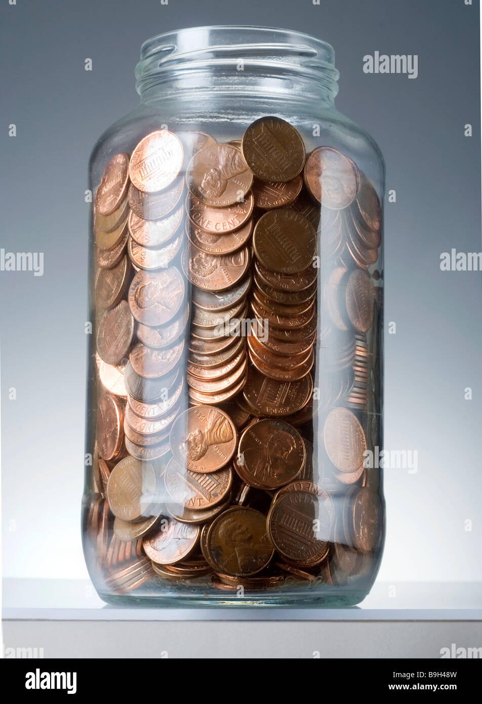 pennies - Stock Image