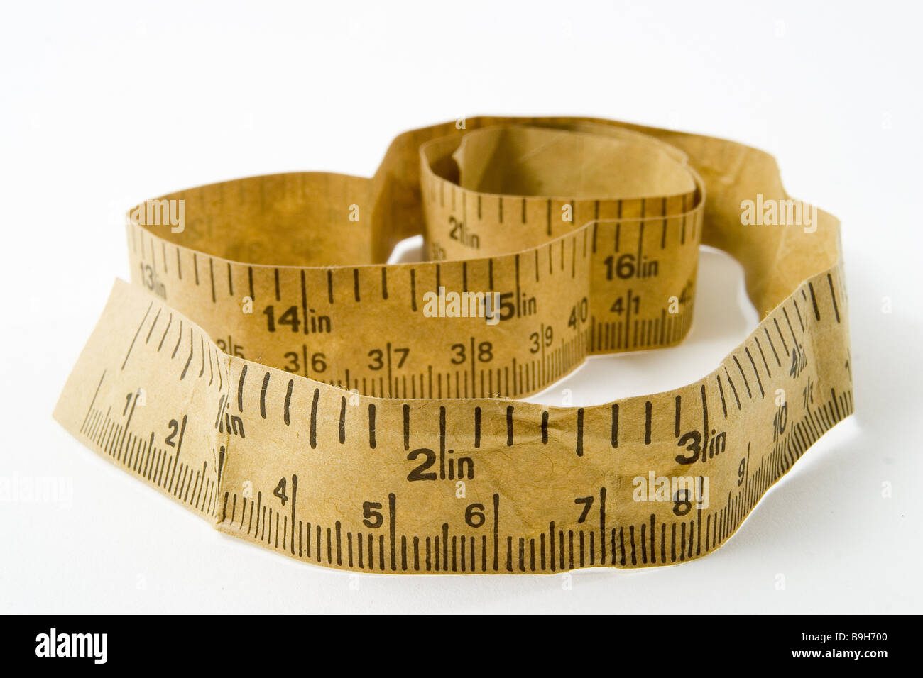 Measurement-band longitudinal-unit Inch  American equipment band diet unit English exactly precision weight-decrease - Stock Image