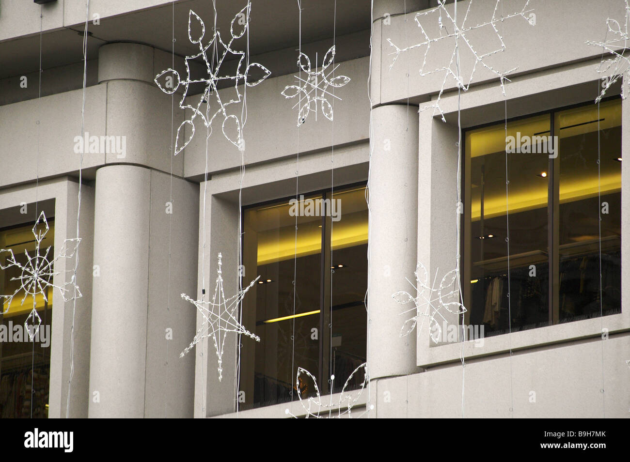 House Detail Christmas Decoration Buildings Facade Windows Office Pre Time Christmassy