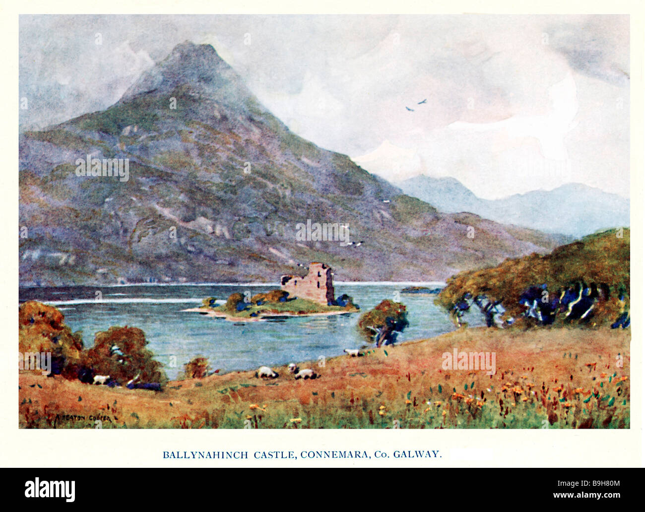 Ballynahinch Castle Connemara 1925 painting of the