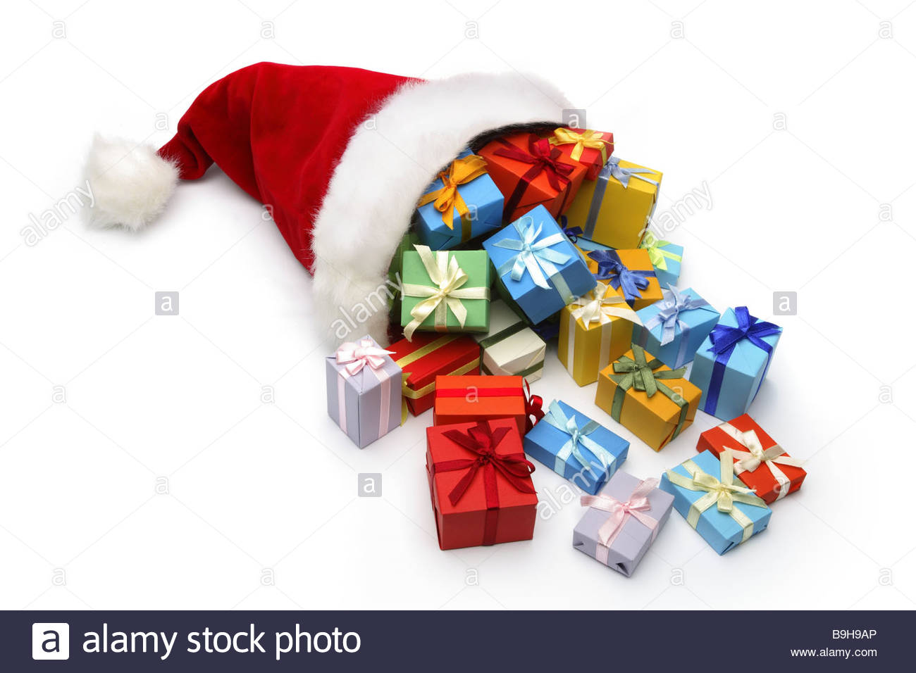 Santa claus cap gifts christmas gifts present surprises packet stock santa claus cap gifts christmas gifts present surprises packet christmas gift giving holiday ceremony festivity packed giving negle Images