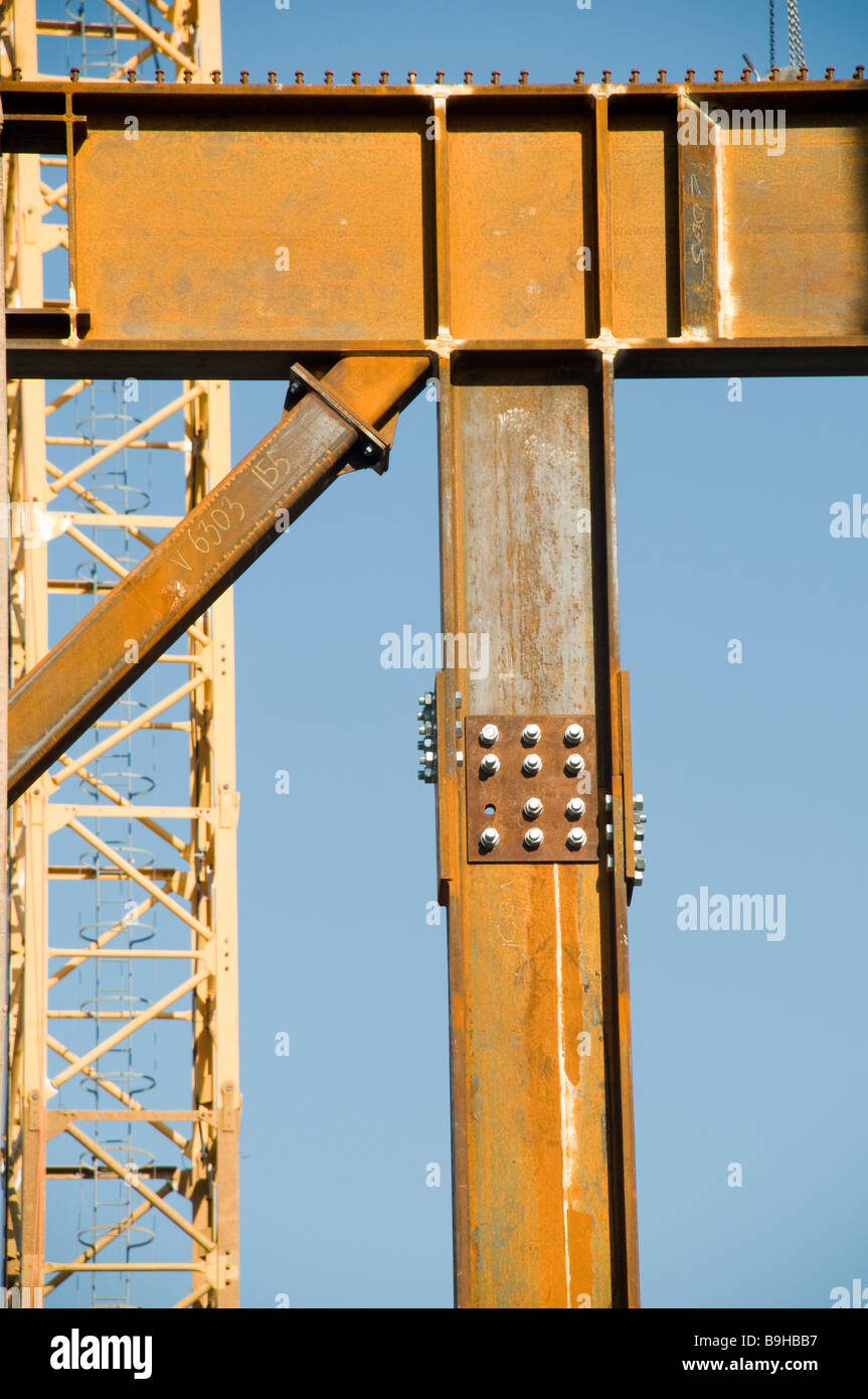 Construction steel frame - Stock Image