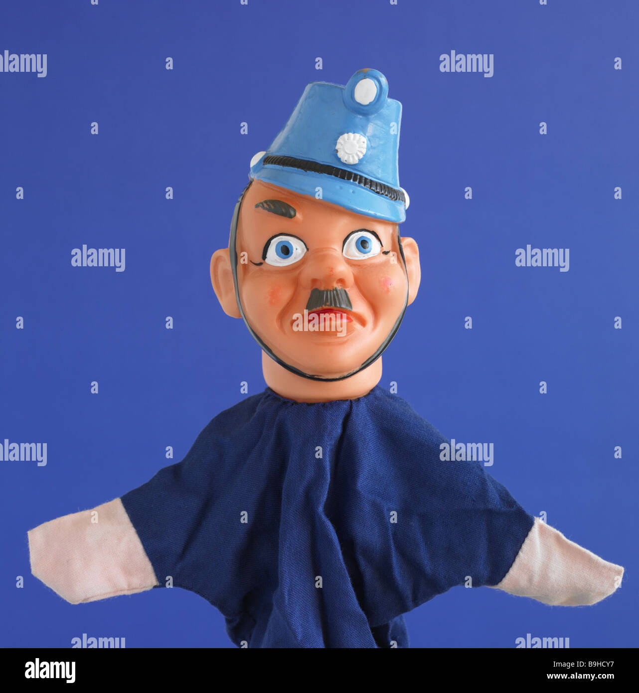 Glove Puppet Police Officer Portrait Doll Punch And Judy Show Puppet