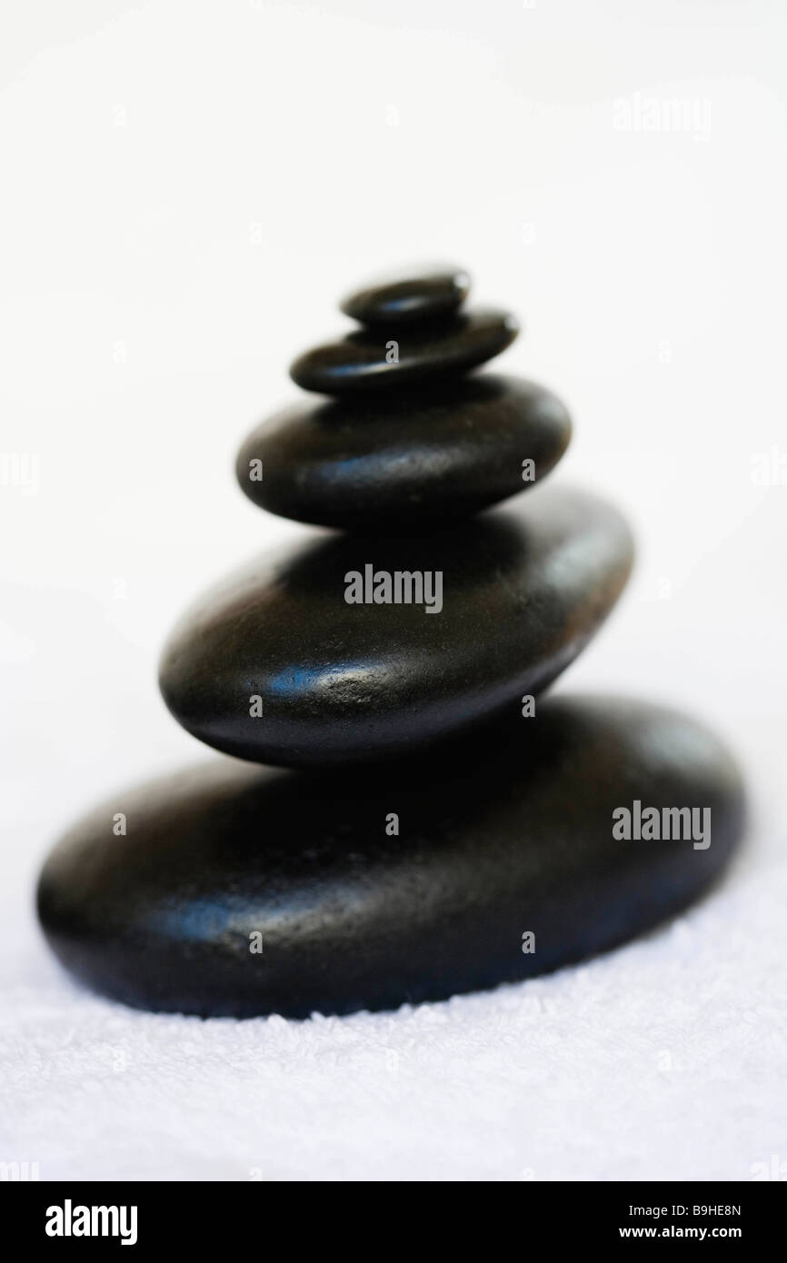 Still-life hot stones - Stock Image