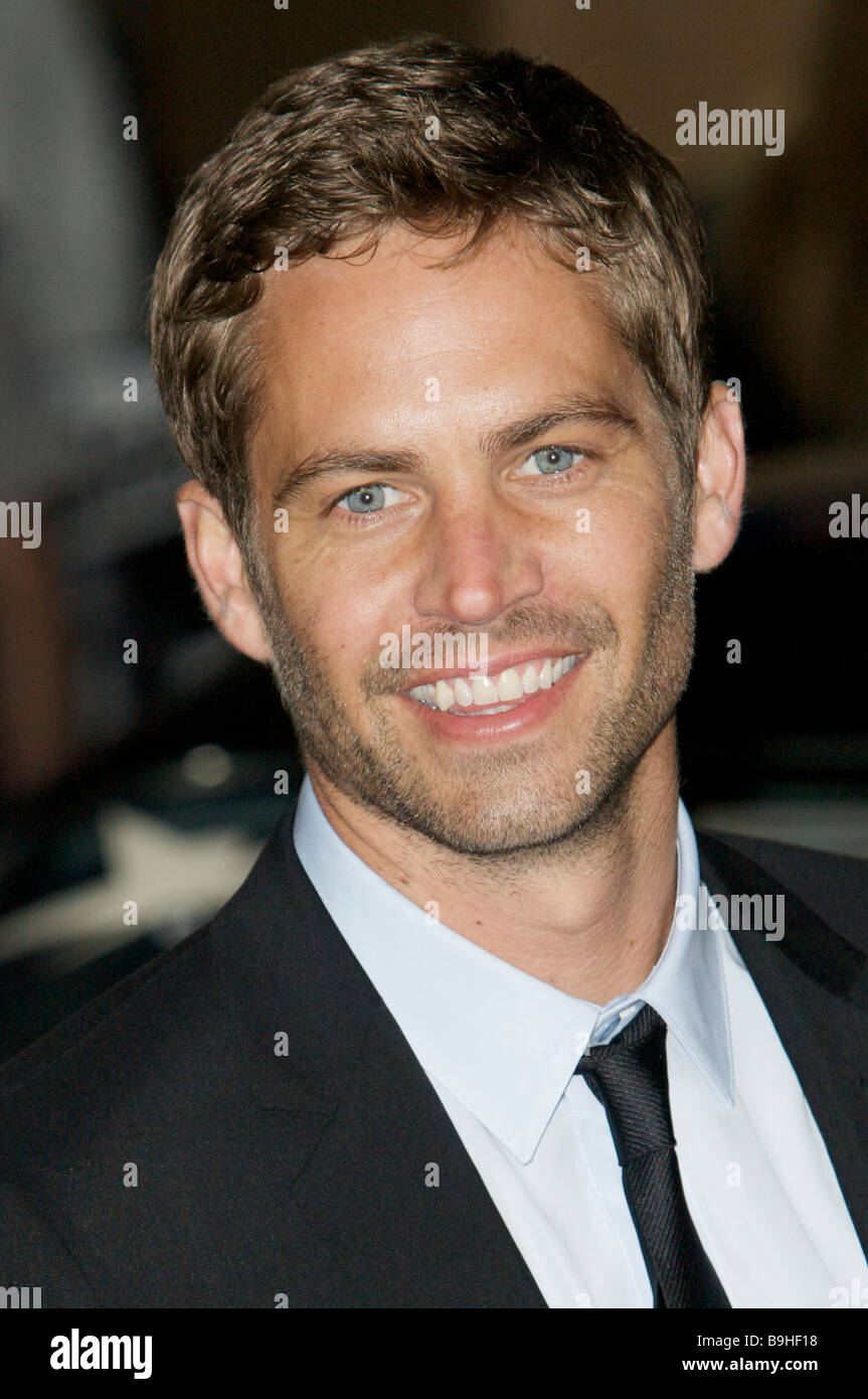 Paul Walker fast and furious premier red carpet - Stock Image