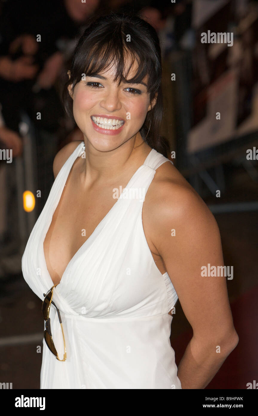 Michelle Rodriguez fast and furious premier - Stock Image