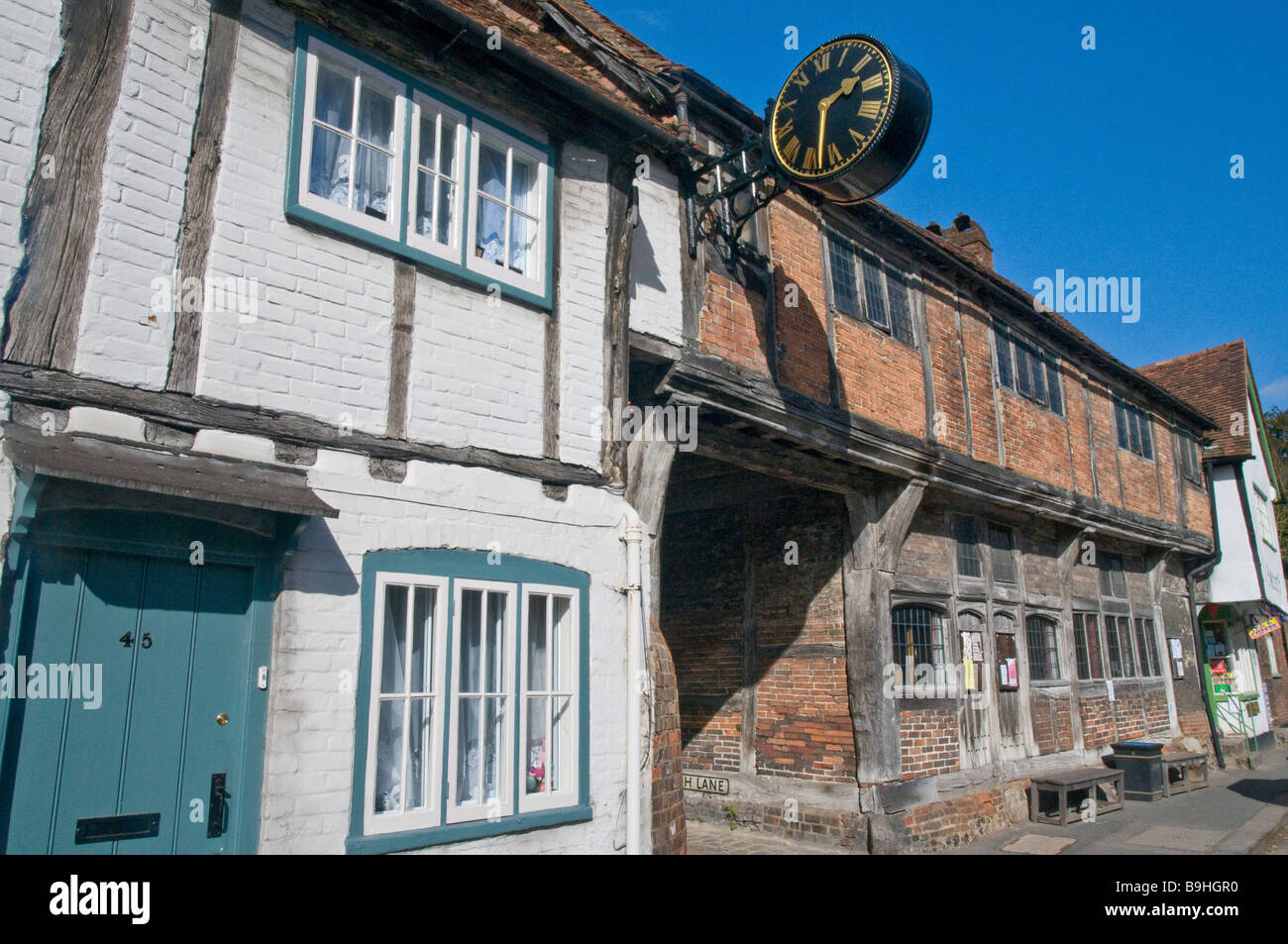 Old Buildings in the village of West Wycombe in Buckinghamshire - Stock Image