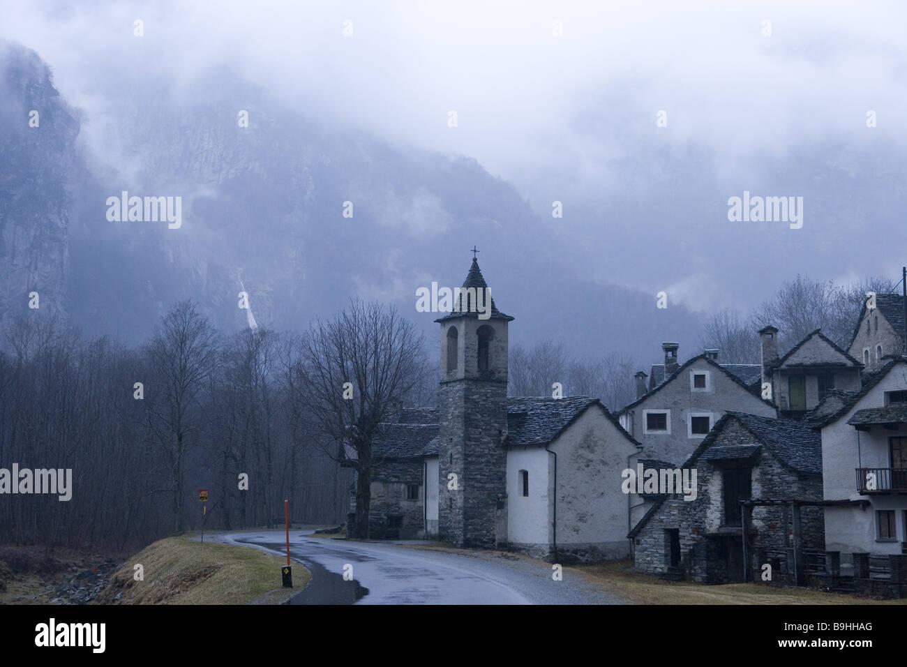 Mountain-village Ritorto Val Bavona Maggia valley Tessin Switzerland - Stock Image
