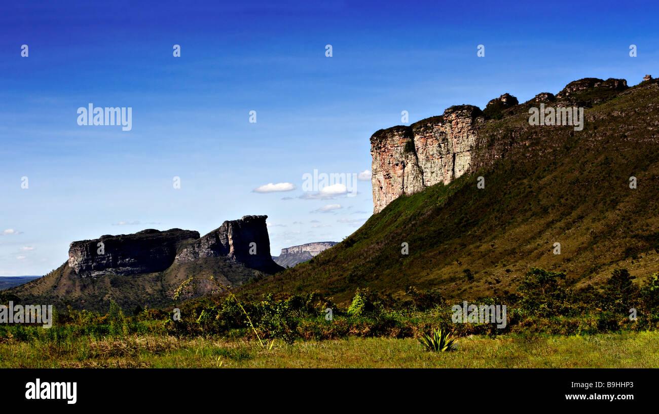 Morro do Camelo Chapada Diamantina National park with Canyonlandscape Bahia Brazil South America - Stock Image