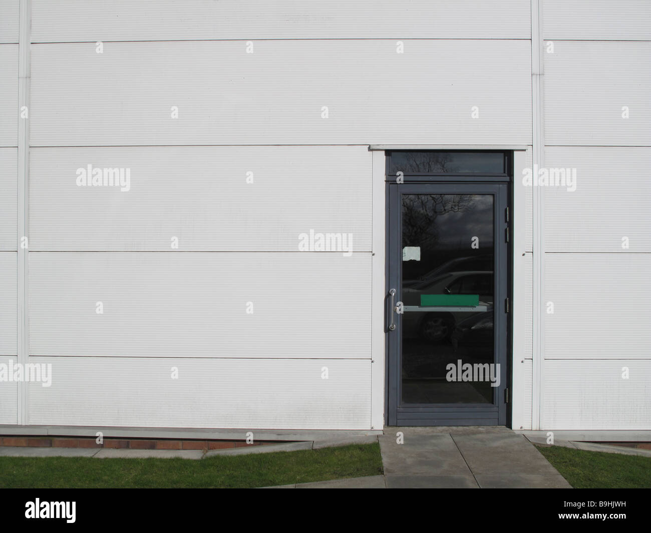 Entry Door In Side Of Modern Office Building Stock Photo 23130285