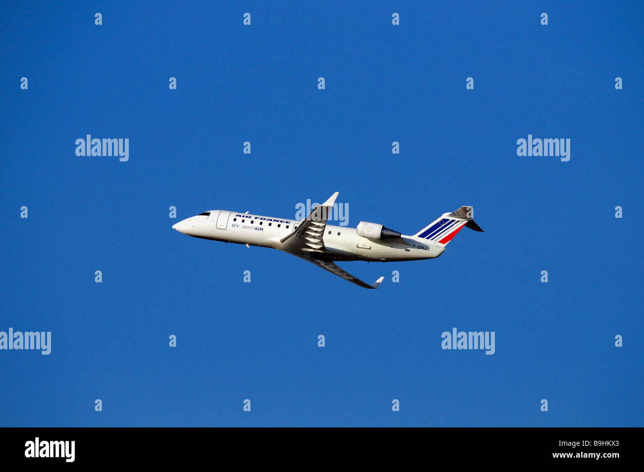 Air France commercial aircraft, Airbus, during climb flight - Stock Image