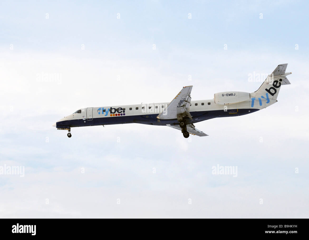 Flybe airliner - Stock Image