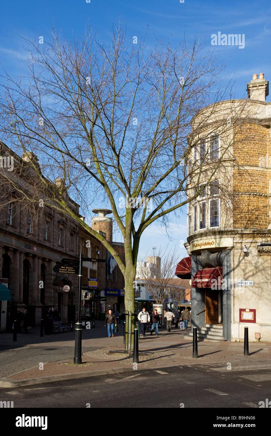High Street, Kettering, Northamptonshire, England, UK - Stock Image