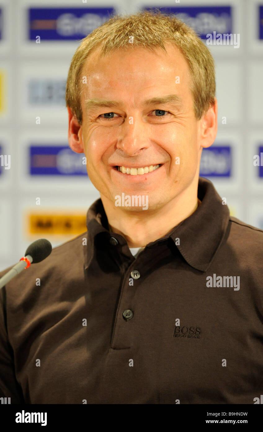 Former German national coach Juergen Klinsmann, trainer FC Bayern Muenchen, portrait - Stock Image
