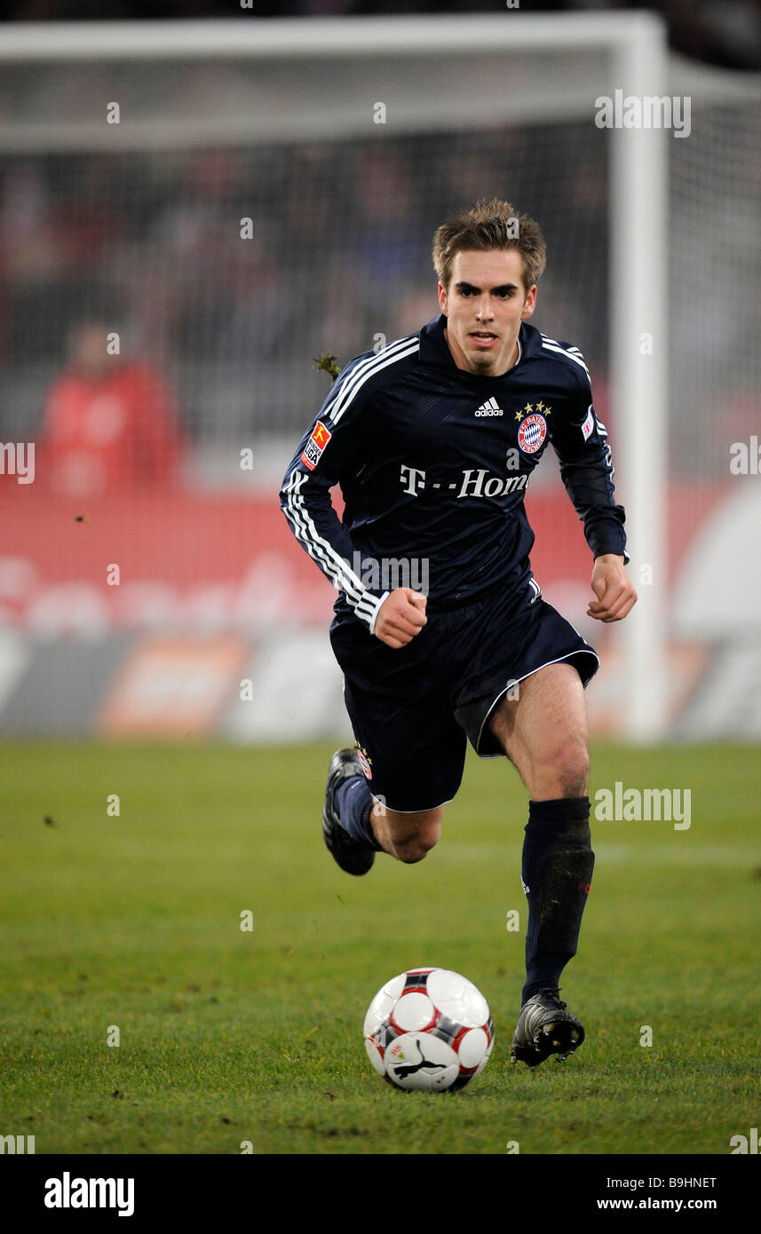 Philipp Lahm, FC Bayern Muenchen, in ball possession - Stock Image