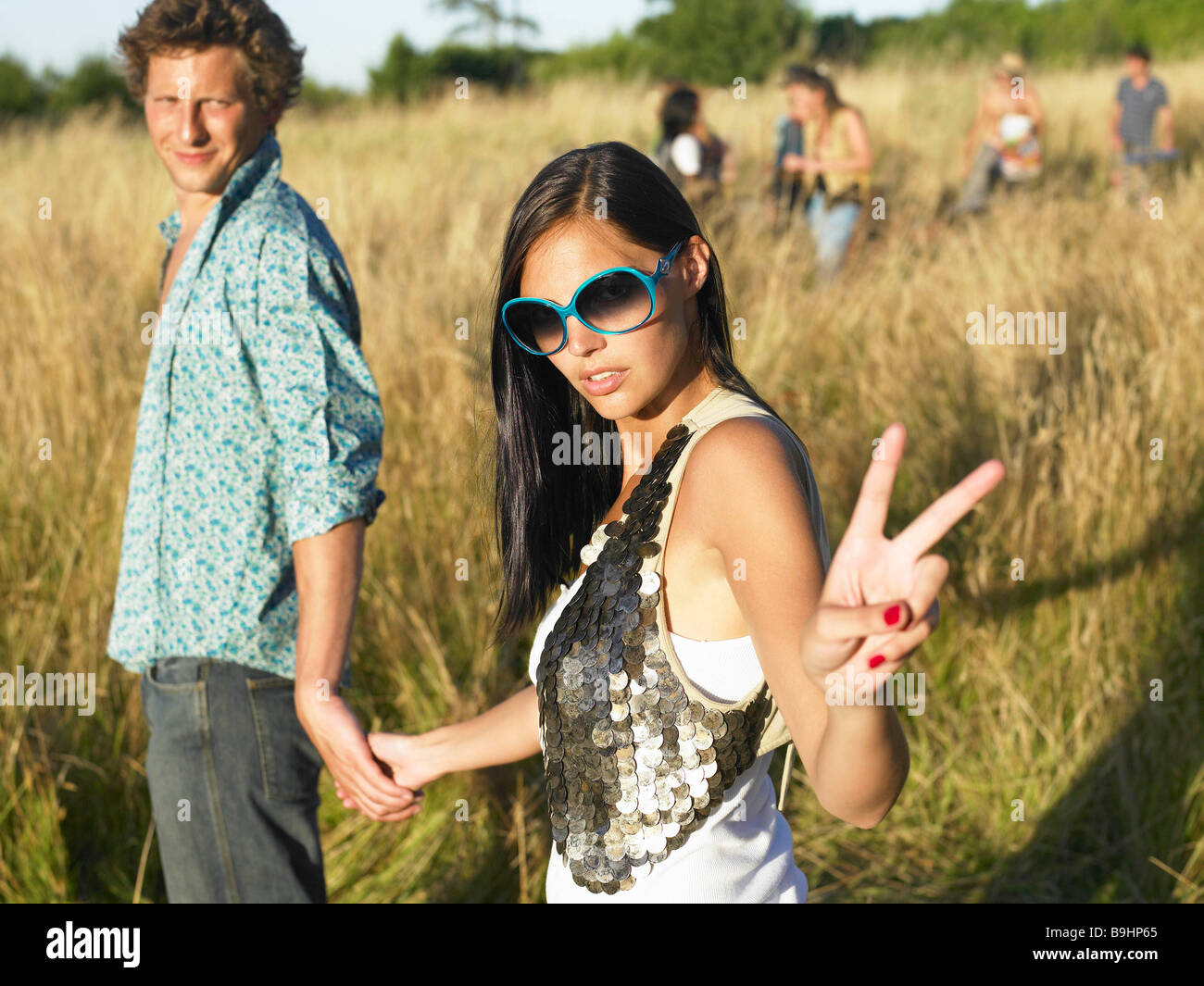 Couple at a festival - Stock Image