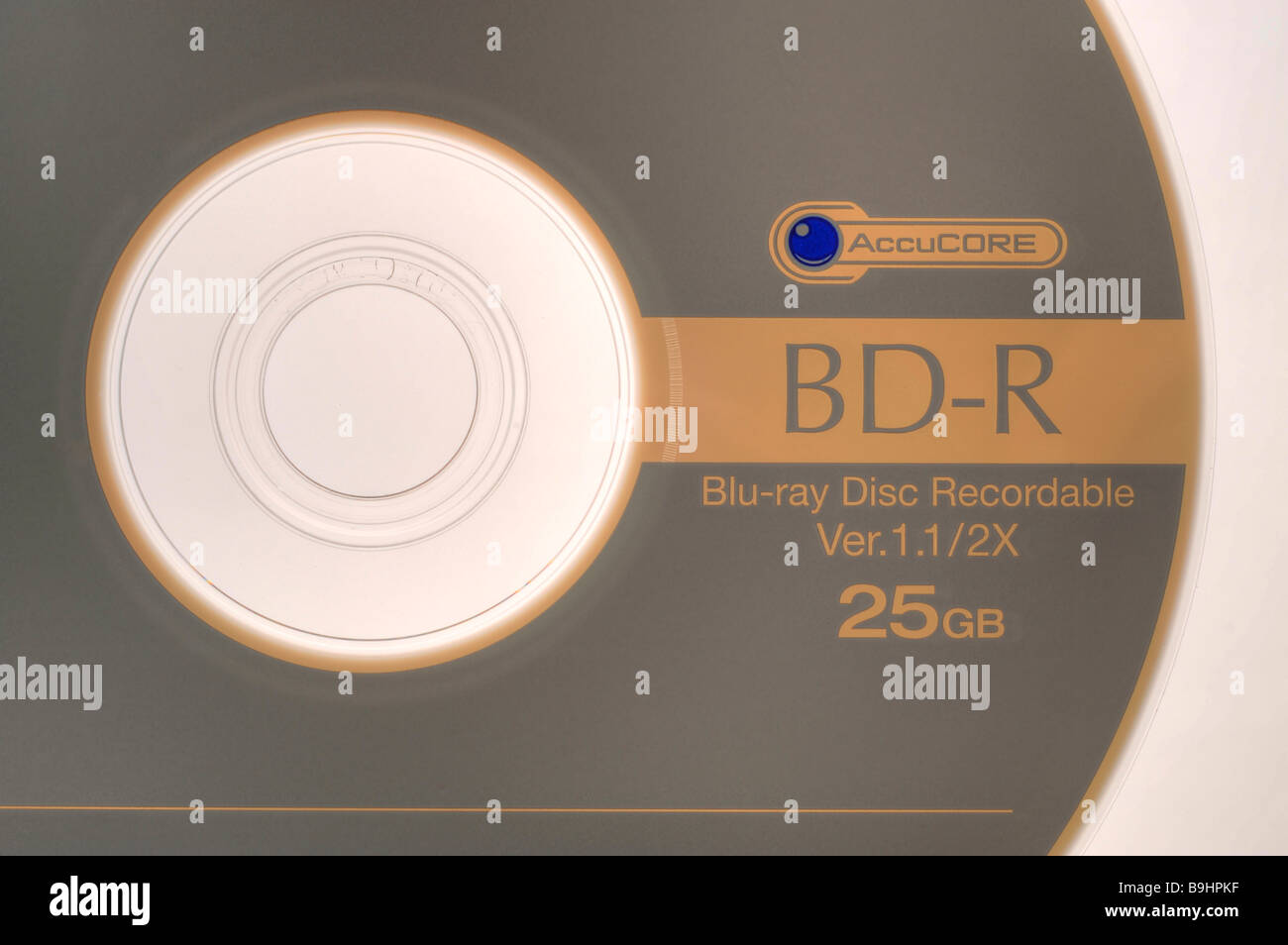 Sony BD-R Blue-Ray Recordable Disc, blank disc - Stock Image