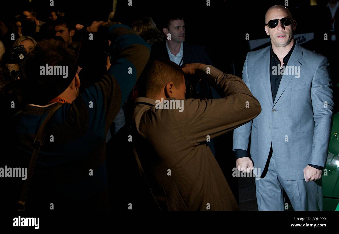 Vin Diesel attending the UK Premier for the fast and furious Leicester Square - Stock Image