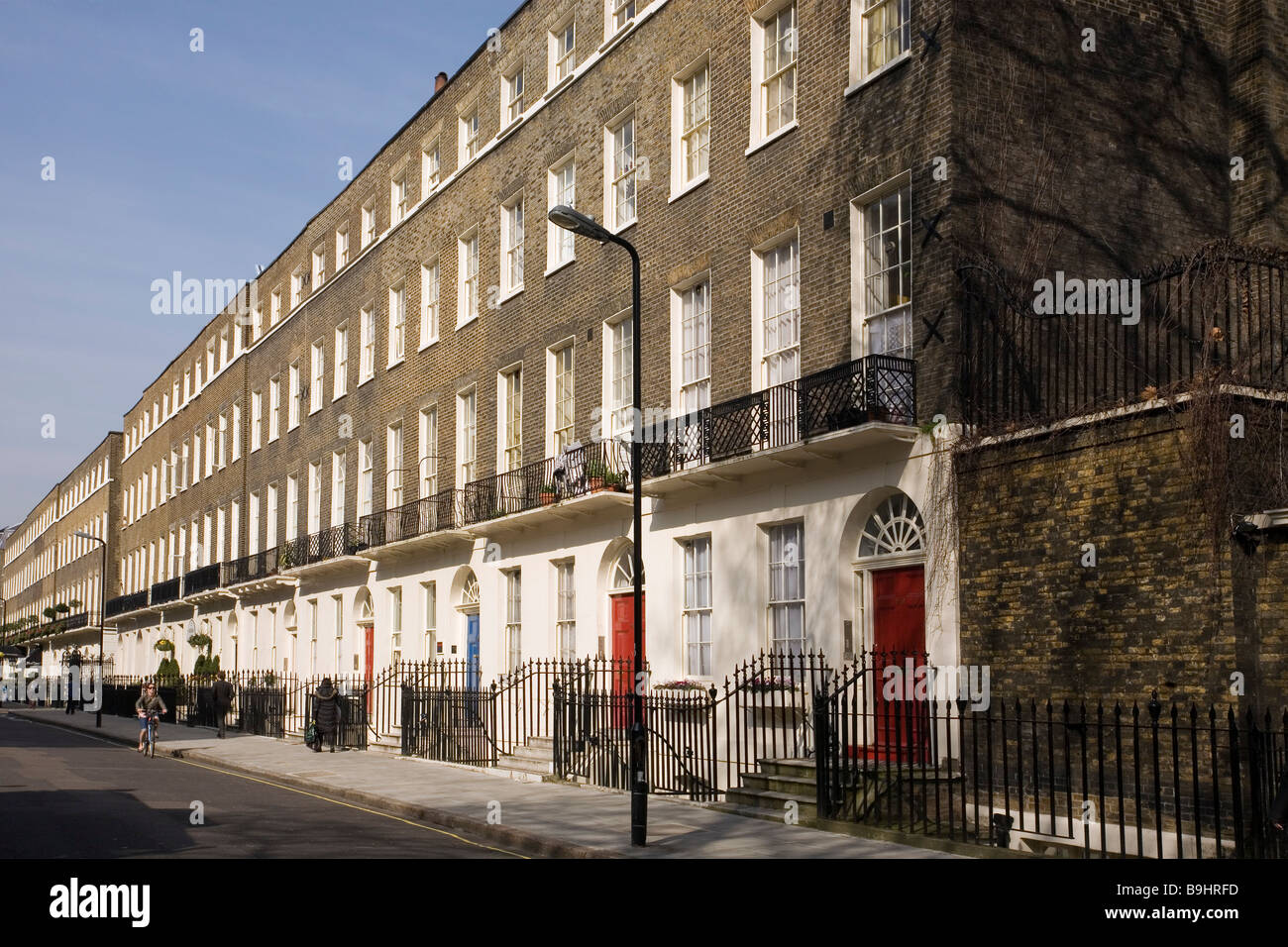 Terraced housing in central London - Stock Image