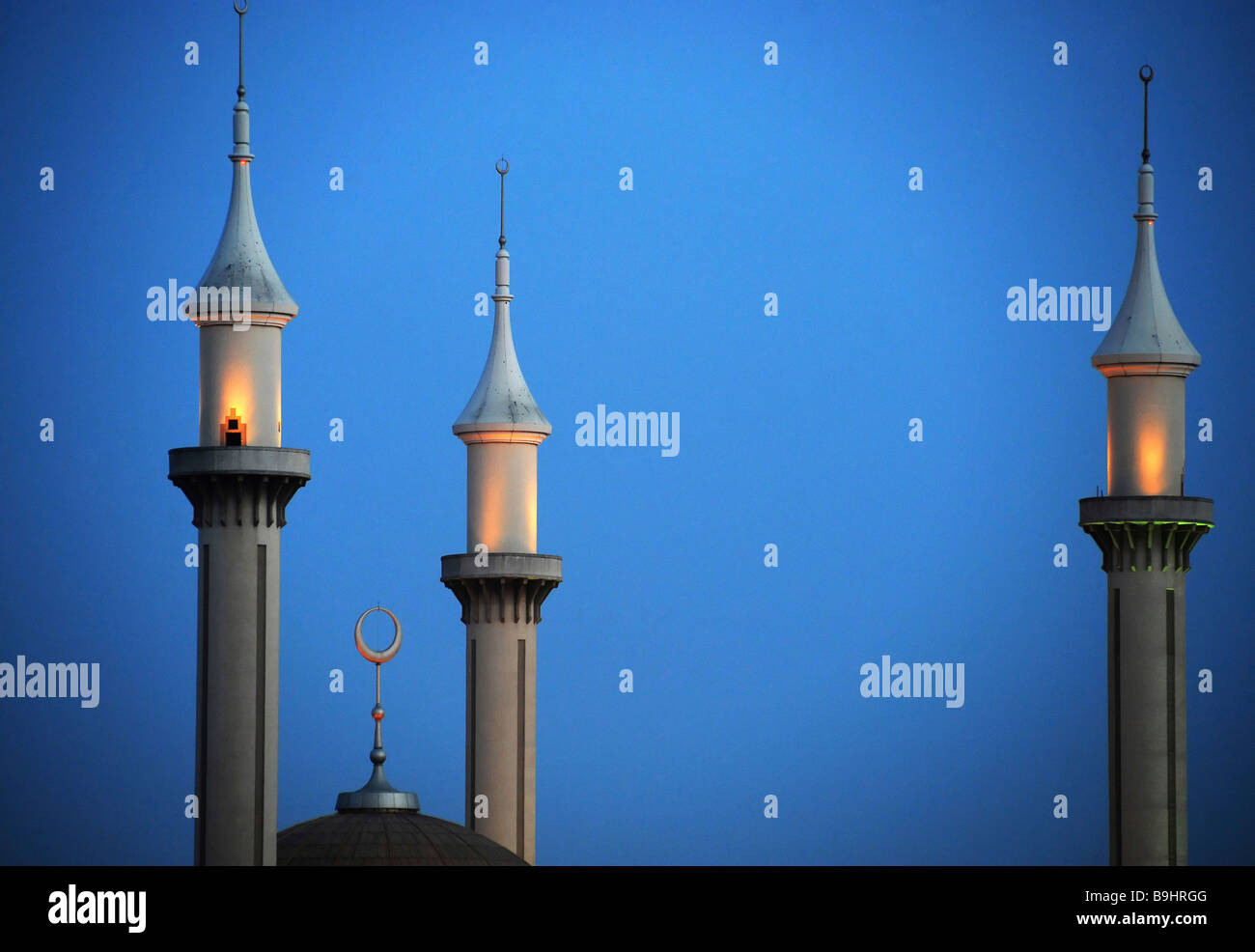 Minarets of the National Mosque in Abuja, Nigeria, Africa - Stock Image