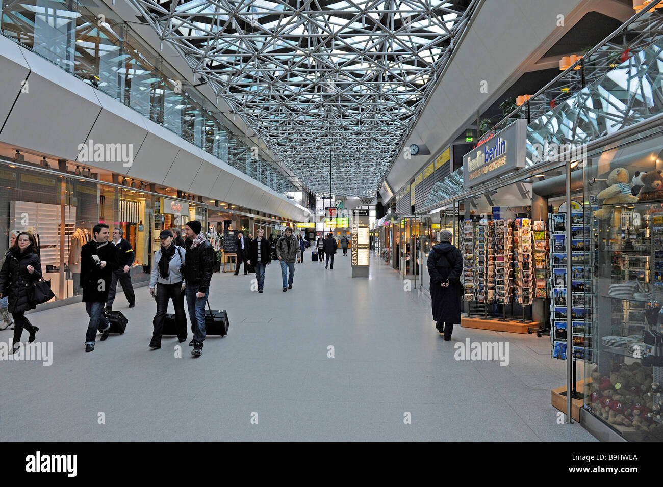 main terminal of the berlin tegel airport berlin germany stock photo 23135458 alamy. Black Bedroom Furniture Sets. Home Design Ideas