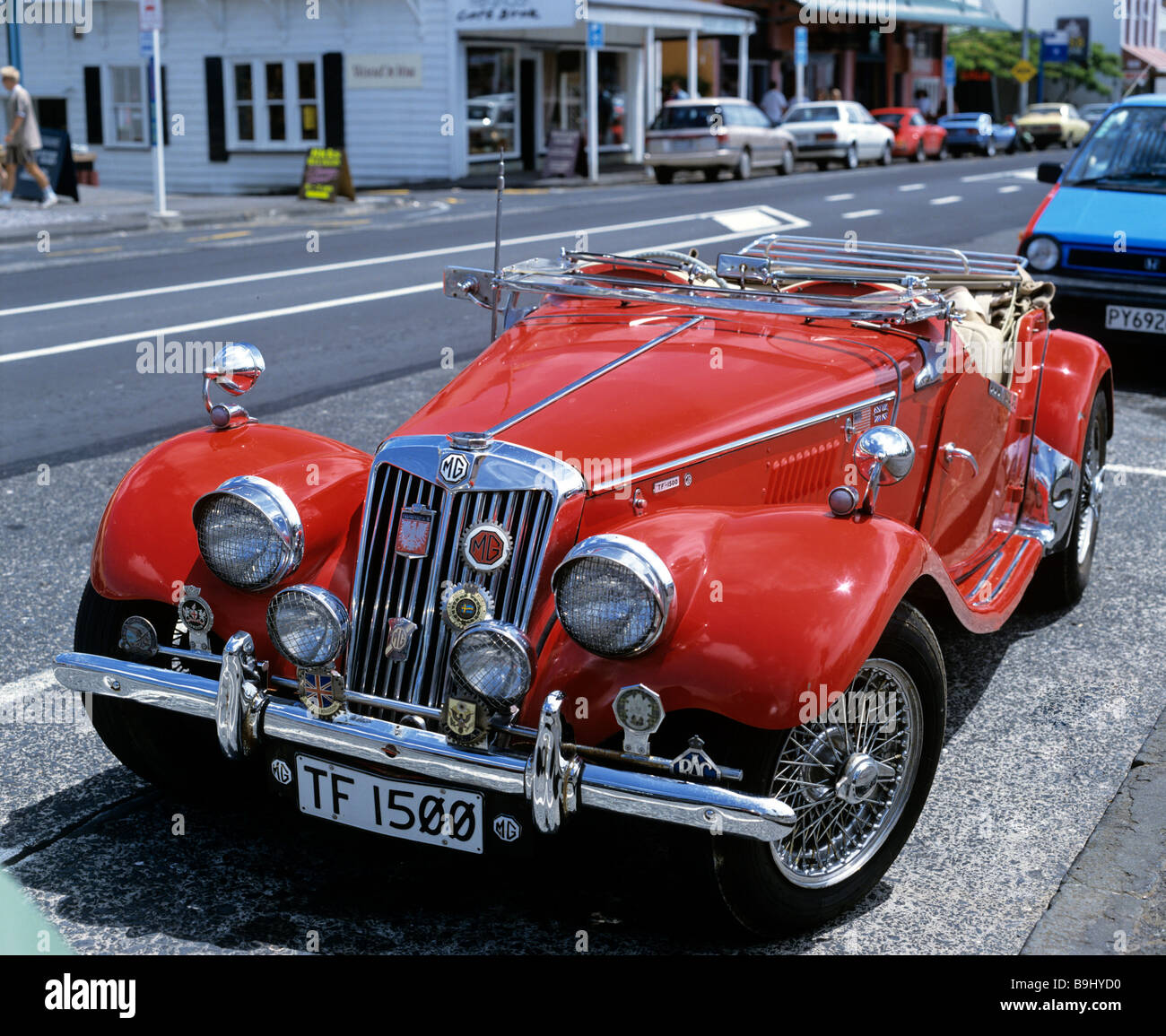 MG TF 1500, vintage car, sports car in Auckland, North Island, New Zealand - Stock Image