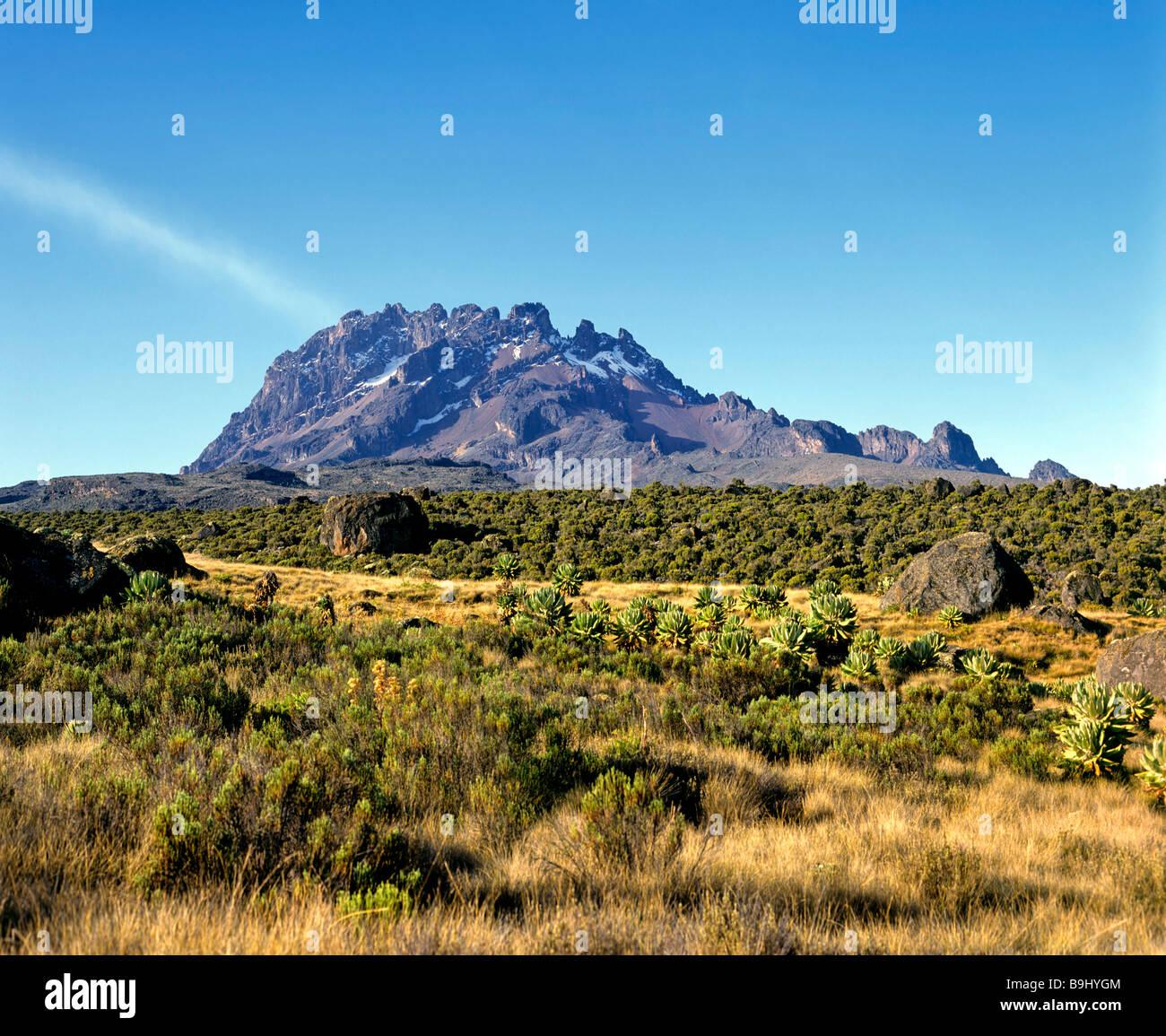 Mawenzi, 5148 metres, Mount Kilimanjaro, National Park, Tanzania, East Africa - Stock Image