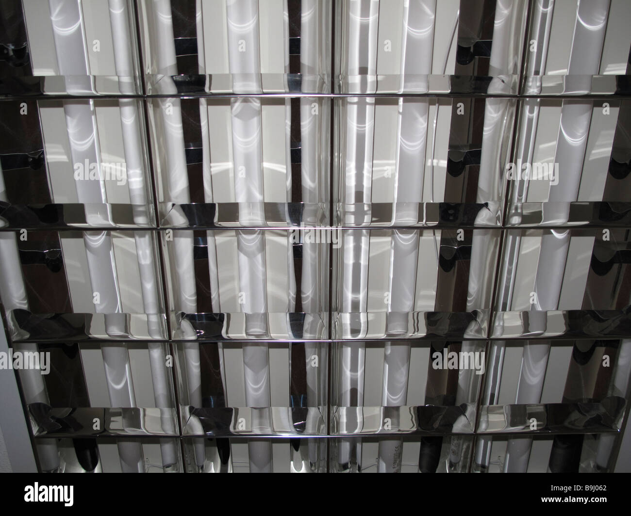 Fluorescent light fitting detail - Stock Image