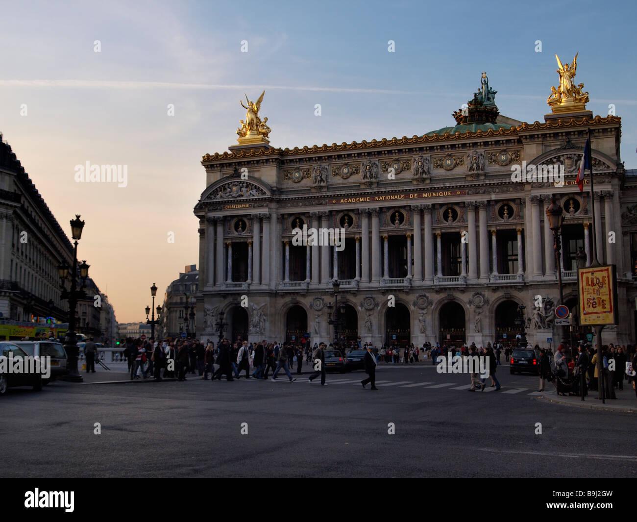 Opera Garnier, old opera and Place de l'Opera, Paris, France, Europe - Stock Image