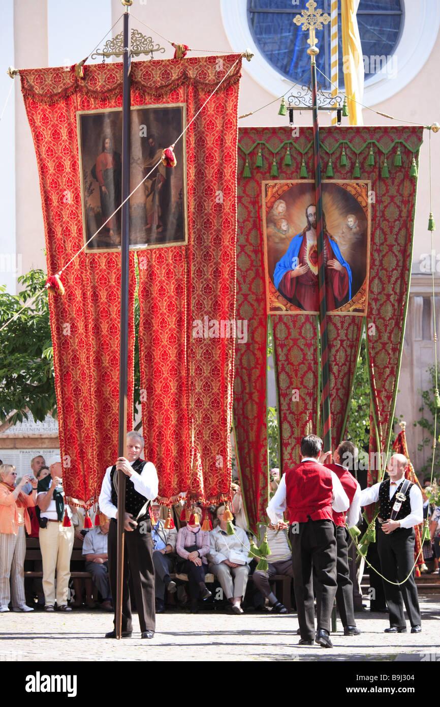 Italy South-Tyrol Kastelruth Corpus Christi-procession Custom-hood