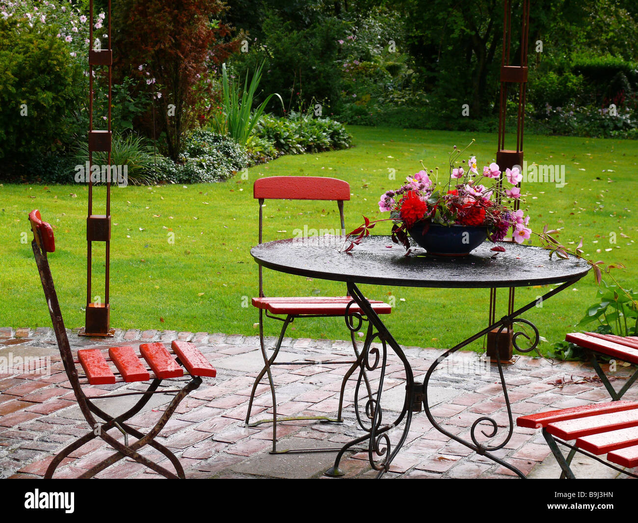 Garden garden furniture flower peel garden terrace garden table chairs table peel flower jewelry flowers terrace furniture