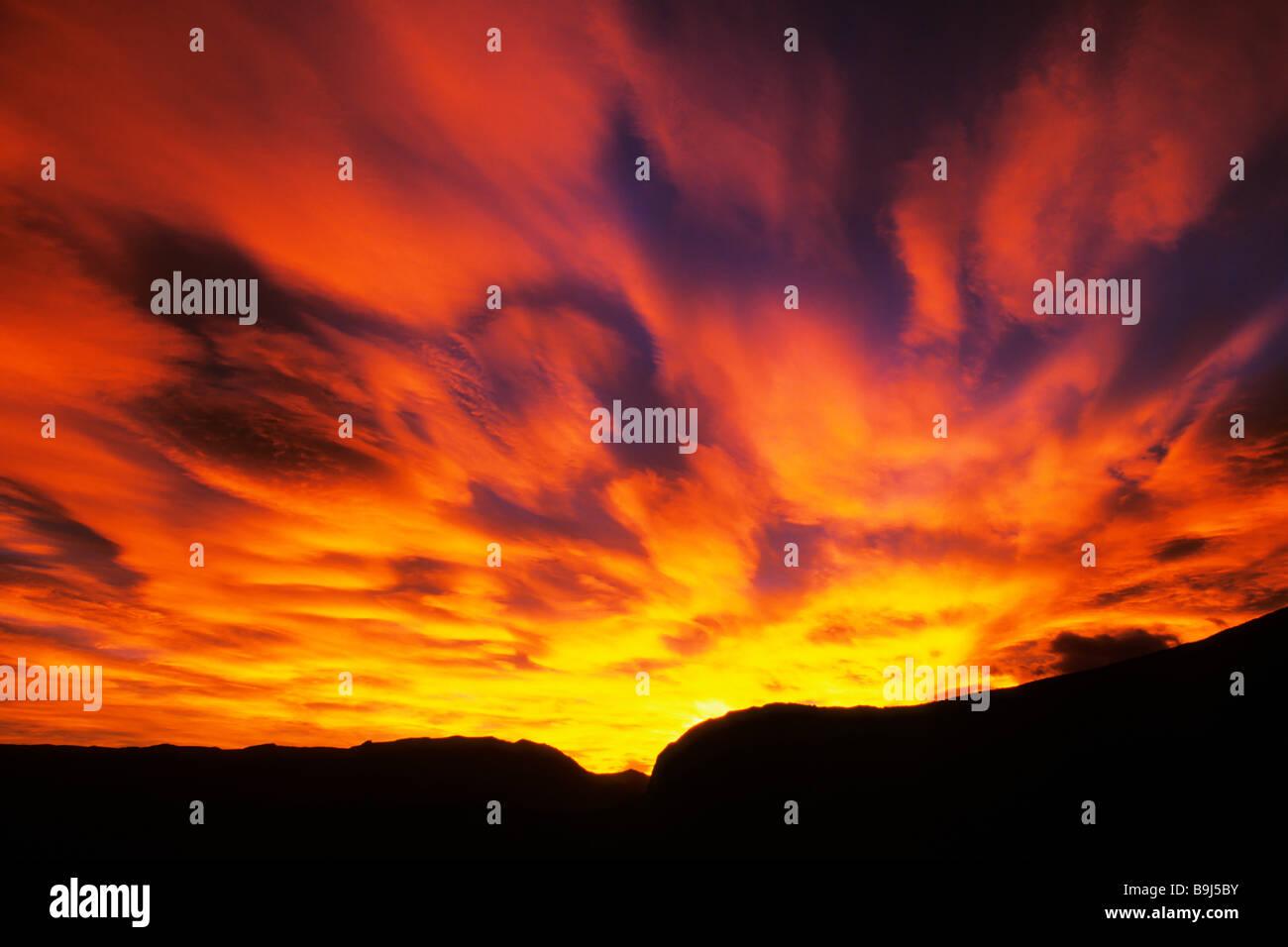 Sunrise in Patagonia, Argentina, South America Stock Photo