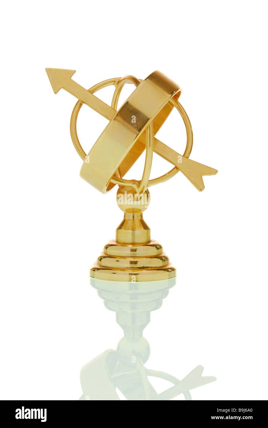 North Cape globe, symbolic of orientation - Stock Image