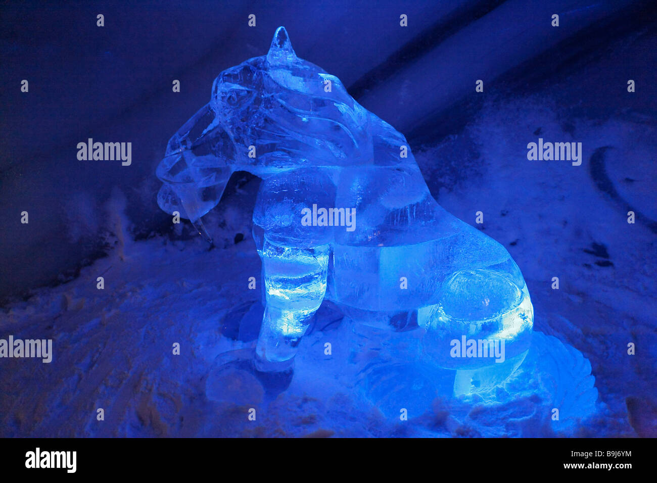 Ice sculpture from 'Ice Age' in the Dachstein Ice Palace, Ramsau, Styria, Austria, Europe - Stock Image