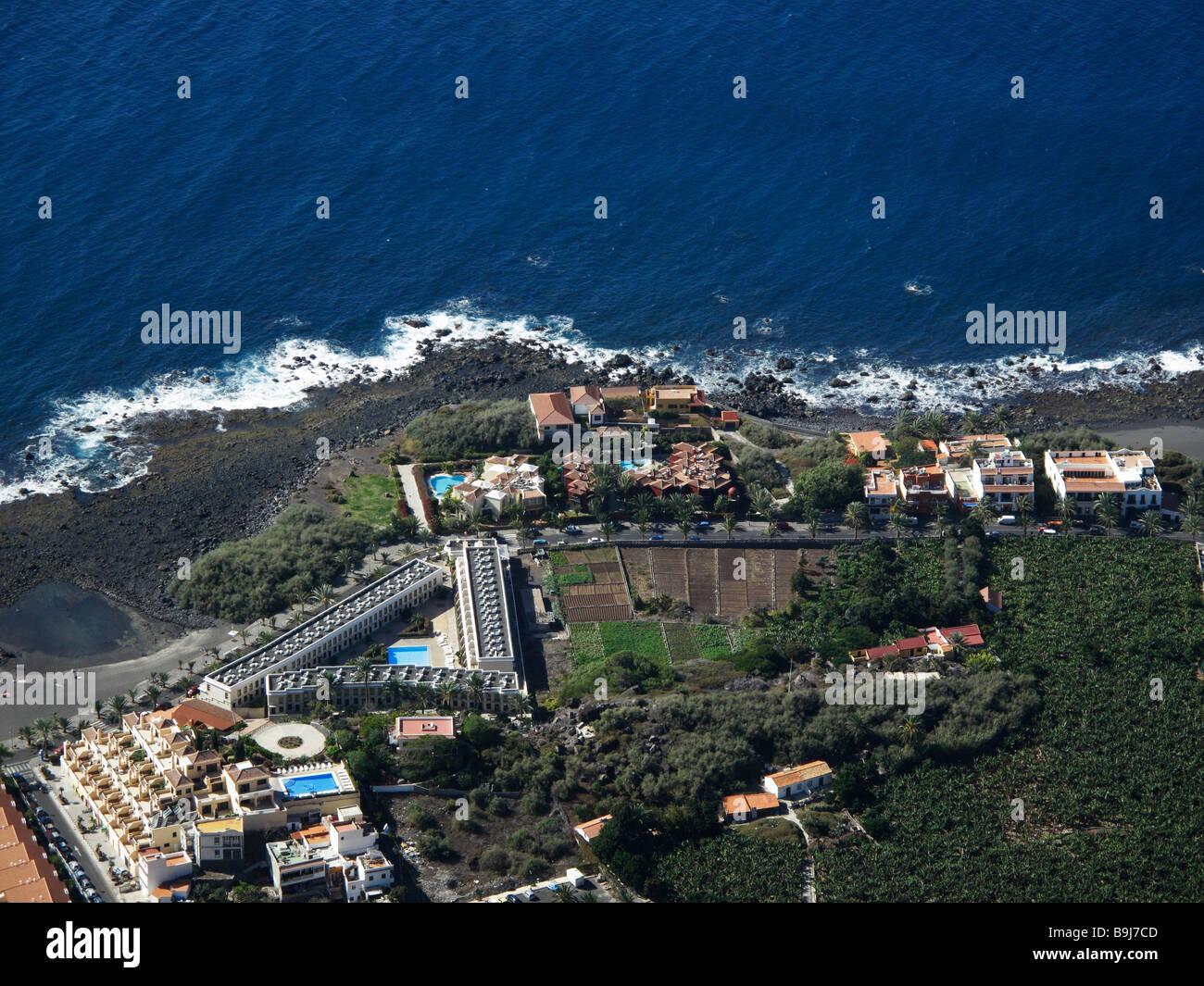 La Puntilla in Valle Gran Rey, La Gomera, Canaries, Canary Islands, Spain, Europe - Stock Image