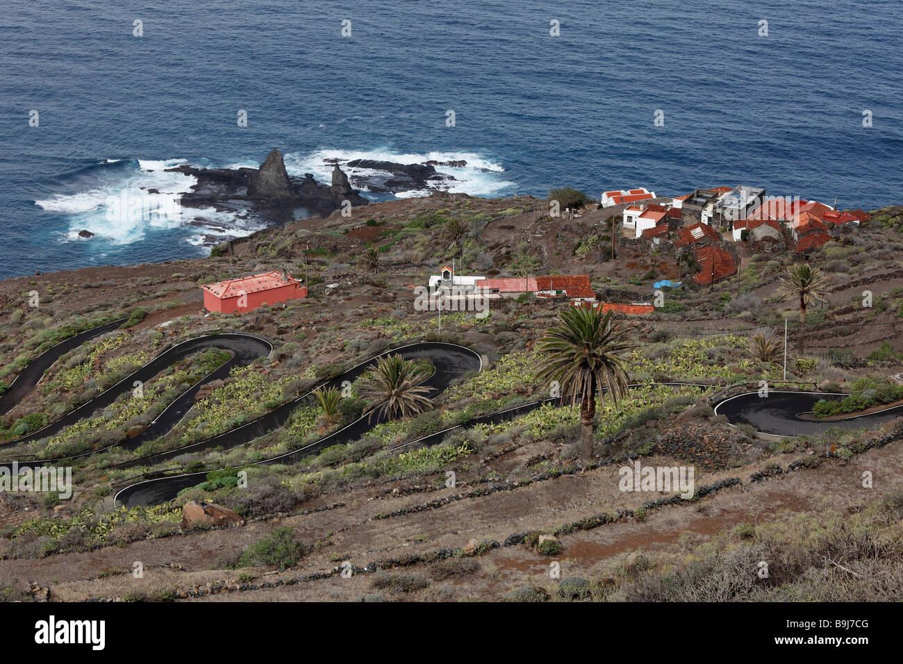 Rocks near Arguamul, Roques de Arguamul, Guillama settlement, La Gomera, Canaries, Canary Islands, Spain, Europe - Stock Image