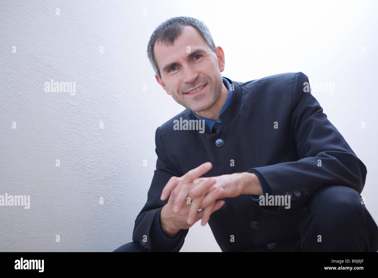 Satisfied manager Stock Photo