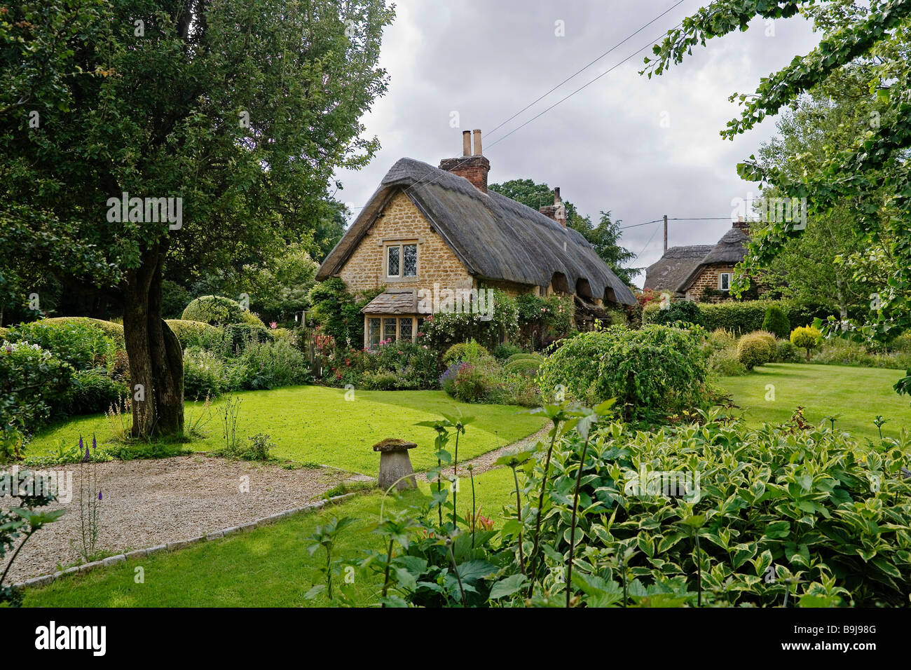 Typical old English country houses, England, United Kingdom, Europe - Stock Image