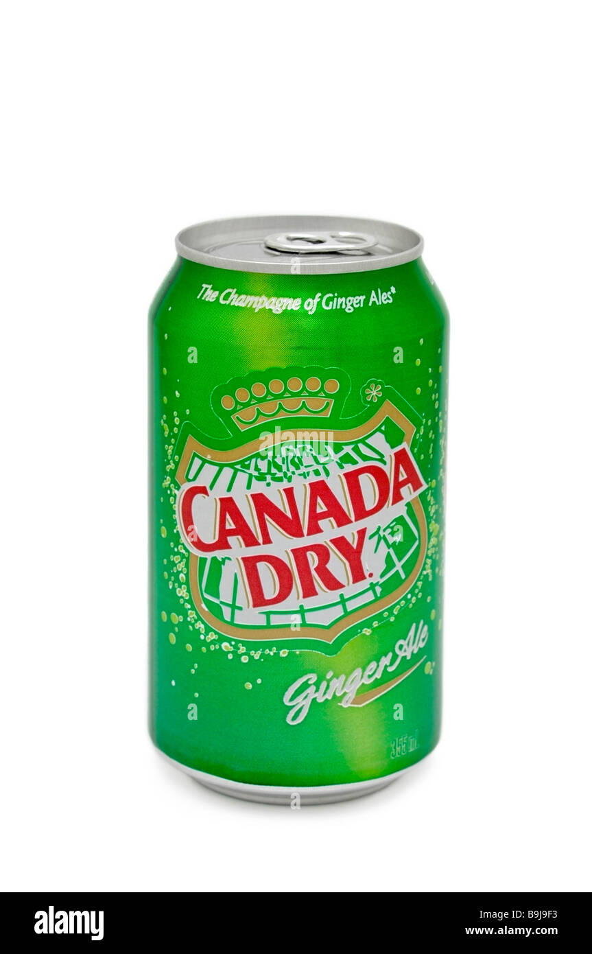 Can of Canada Dry Ginger Ale Stock Photo