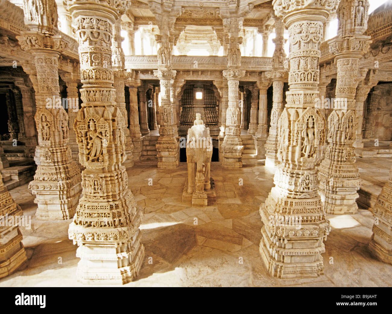 Rajasthan S Ornately Carved Pillars Of White Marble In The