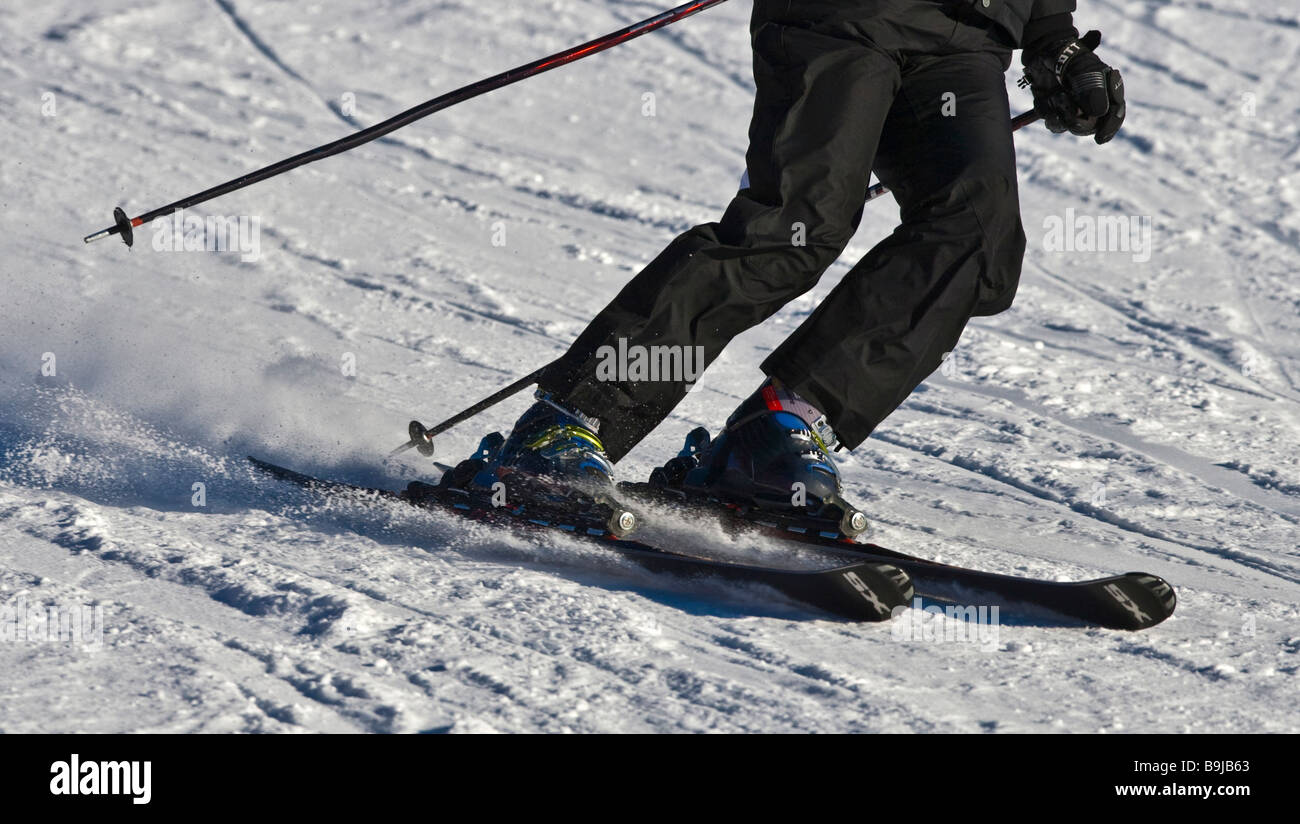 Skier on a piste - Stock Image