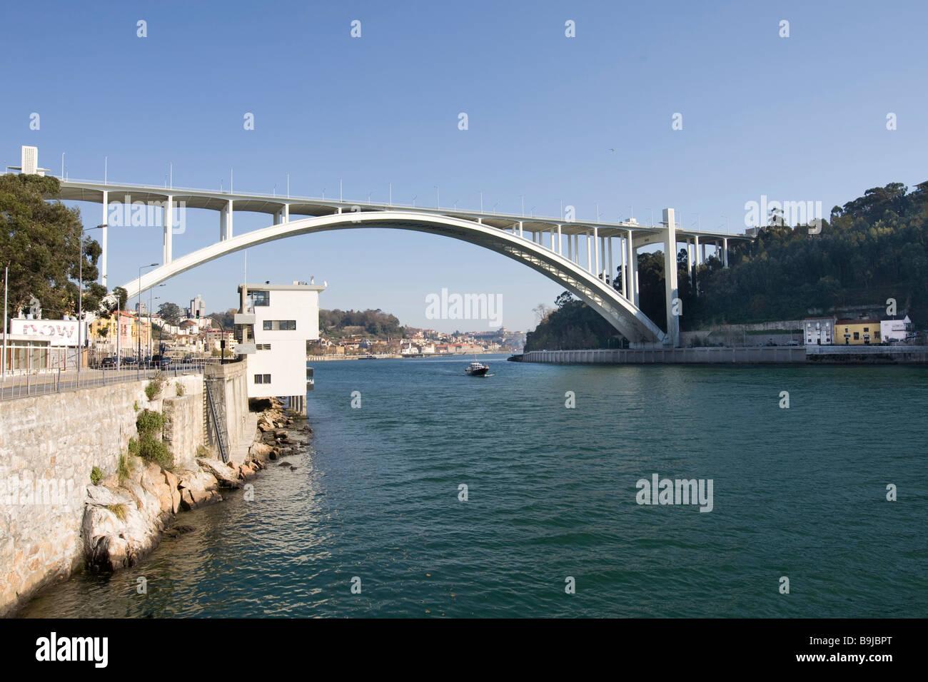 Ponte da Arrabida Bridge, Porto, UNESCO World Cultural Heritage Site, Portugal, Europe Stock Photo