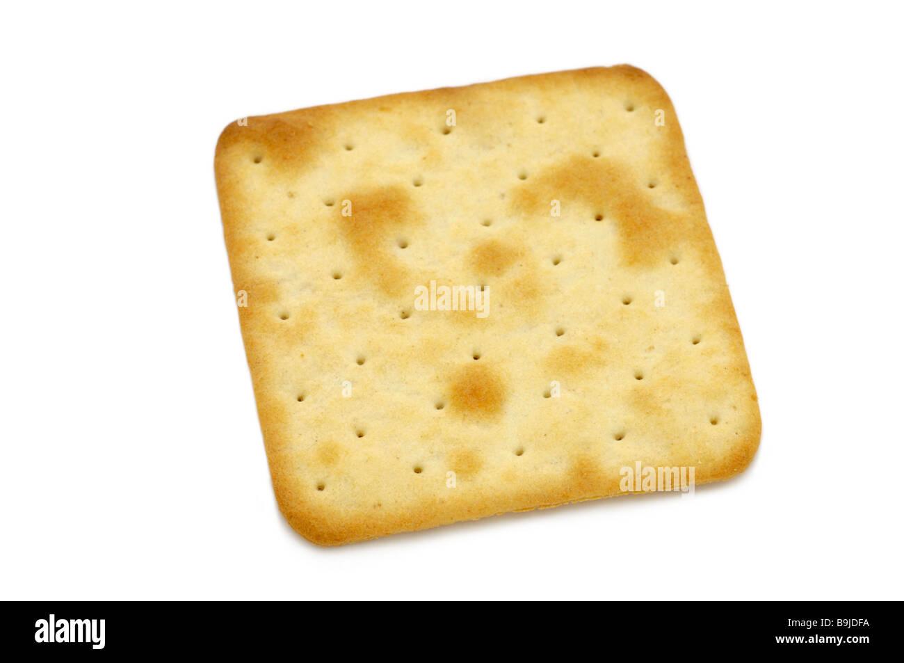 Cream/creme cracker - Stock Image