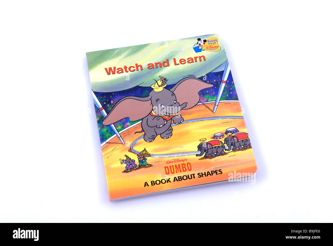 Walt Disney Character Dumbo the elephant story book isolated against a white background - Stock Image